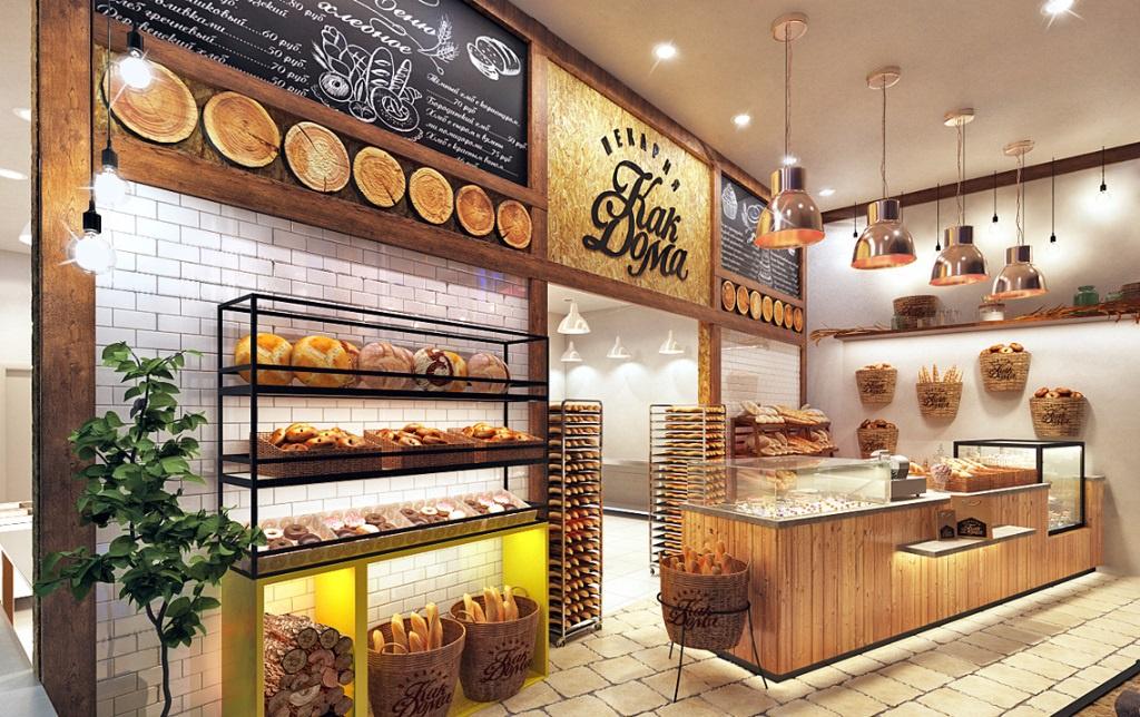 Такие пекарни популярны в современных жилых комплексах — люди приходят утром за кофе и выпечкой, а вечером за хлебом