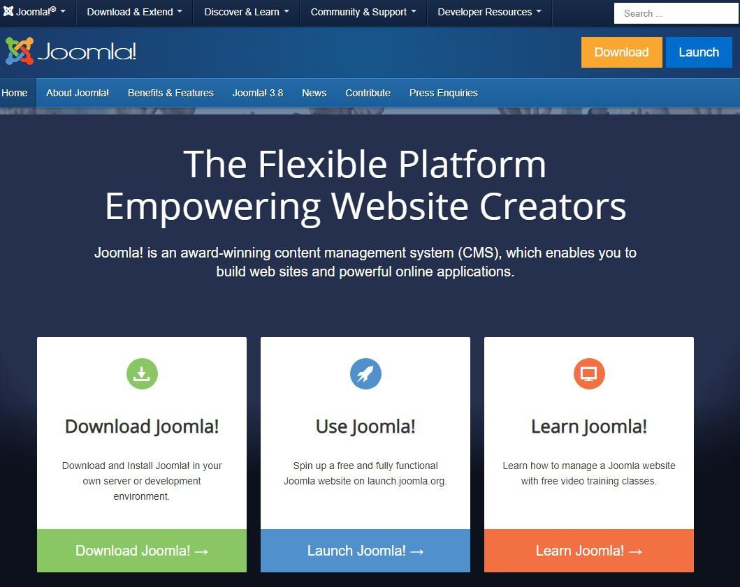 Joomla — один из популярнейших движков для сайтов